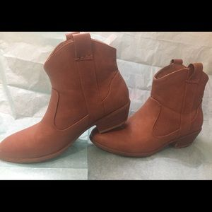 Brown leather booties size 6.5